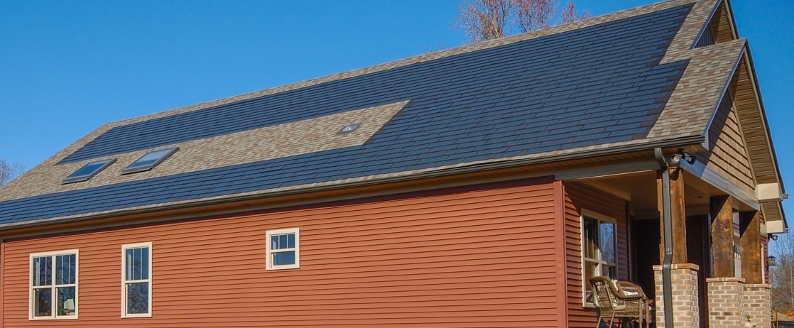 Exterior Picture of Finished Home Built with Rooftop Solar by Addison Homes