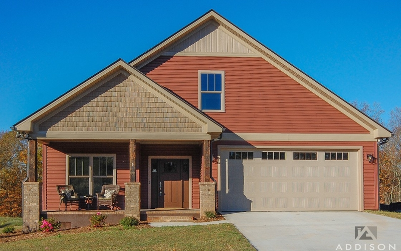 trails edge court exterior front home with garage
