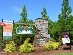 trails edge court home neighborhood sign